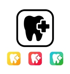 Dental icon in flat style vector image vector image