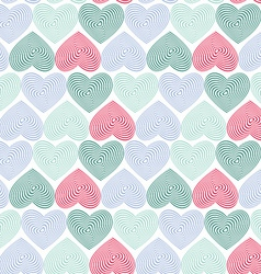 doodle seamless pattern with hearts on white vector image vector image