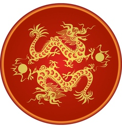dragon chinese goroscop vector image vector image