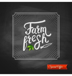 Farm Fresh special offer sign vector image vector image