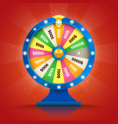 realistic retro spinning wheel of fortune or luck vector image vector image