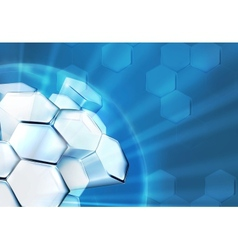 Science Background Blue vector image vector image