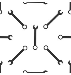spanner icon seamless pattern on white background vector image vector image