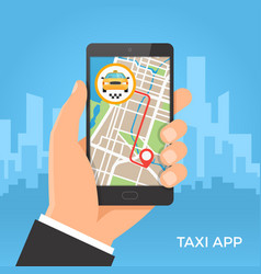 taxi service and gps navigation concept vector image vector image