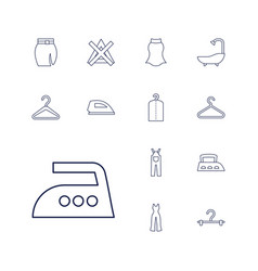 13 cloth icons vector