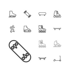 13 skate icons vector