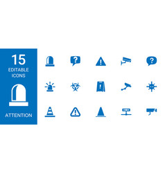 15 attention icons vector