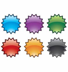 abstract colorful burst icons vector image