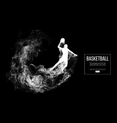 abstract silhouette a basketball player vector image