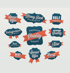 Advertising tags vector