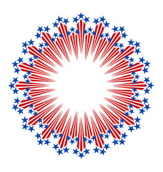 american abstract round emblem logo vector image