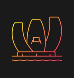 Artscience museum gradient icon for dark theme vector