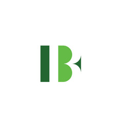 b logo green icon letter sign element vector image