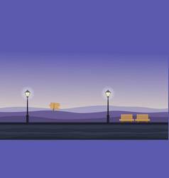 Background game of hill landscape at night vector