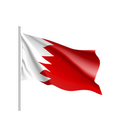 bahrain national flag vector image