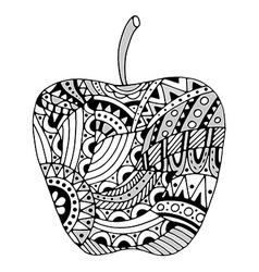 beautiful Patterns stylized apple vector image