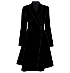 Black trench coat vector