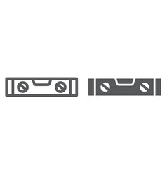 Bubble level tool line and glyph icon tool and vector
