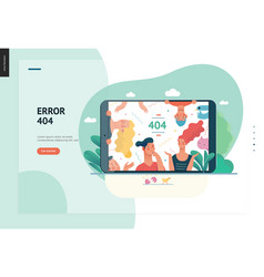 business series - error 404 web template vector image