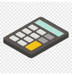 Calculator isometric 3d icon vector image