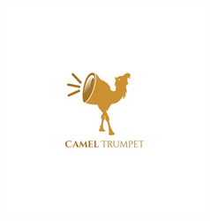 camel trumpet logo vector image