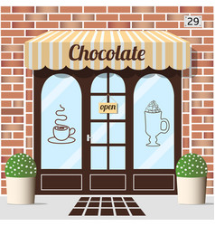 chocolate shop facade vector image