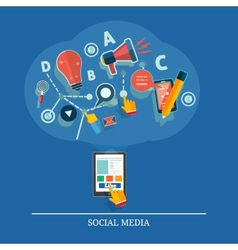 Cloud of application icons Social media vector image