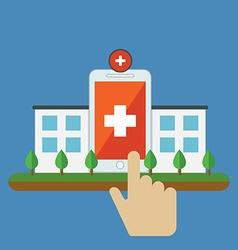 Conceptual of Health mobile application for vector