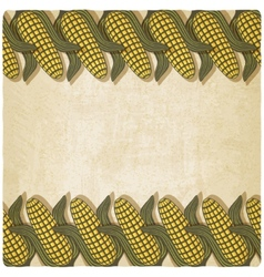 Corn frame old background vector