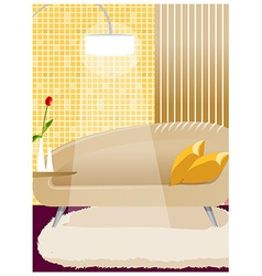 Couch and lamp interior vector