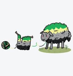 Cute aromantic wooly sheep cartoon vector