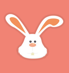 cute rabbit head icon vector image
