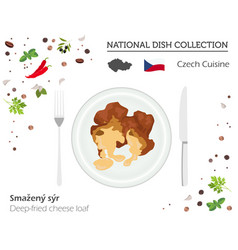 Czech cuisine european national dish collection vector