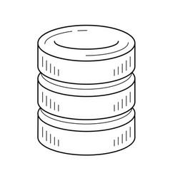 data storage line icon vector image