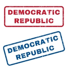 Democratic Republic Rubber Stamps vector