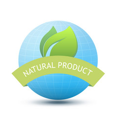 eco emblem - natural product vector image