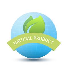 Eco emblem - natural product vector