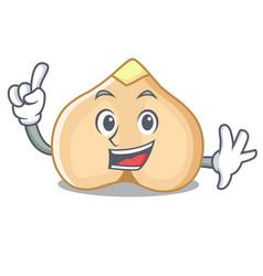 Finger chickpeas mascot cartoon style vector