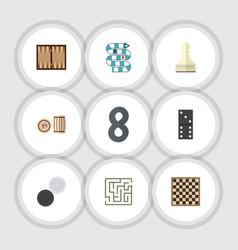 Flat icon entertainment set of labyrinth bones vector