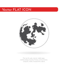 flat icon planet for web business finance and vector image
