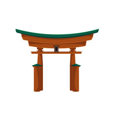 flat japanese torii gate icon isolated vector image