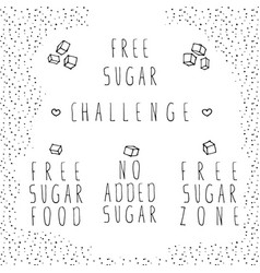 free sugar label set vector image