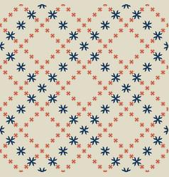 geometric floral minimalist pattern seamless vector image