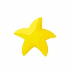 Gold starfish icon cartoon style vector