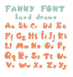 Hand drawn alphabet vector
