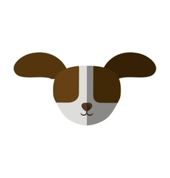 head dog big ears up shadow vector image