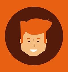 head man design vector image