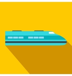 High speed train flat icon vector