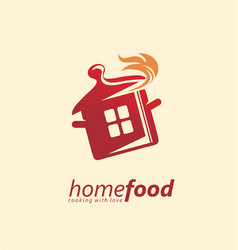 home cooking logo design idea vector image