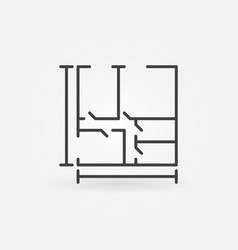 house plan concept icon vector image